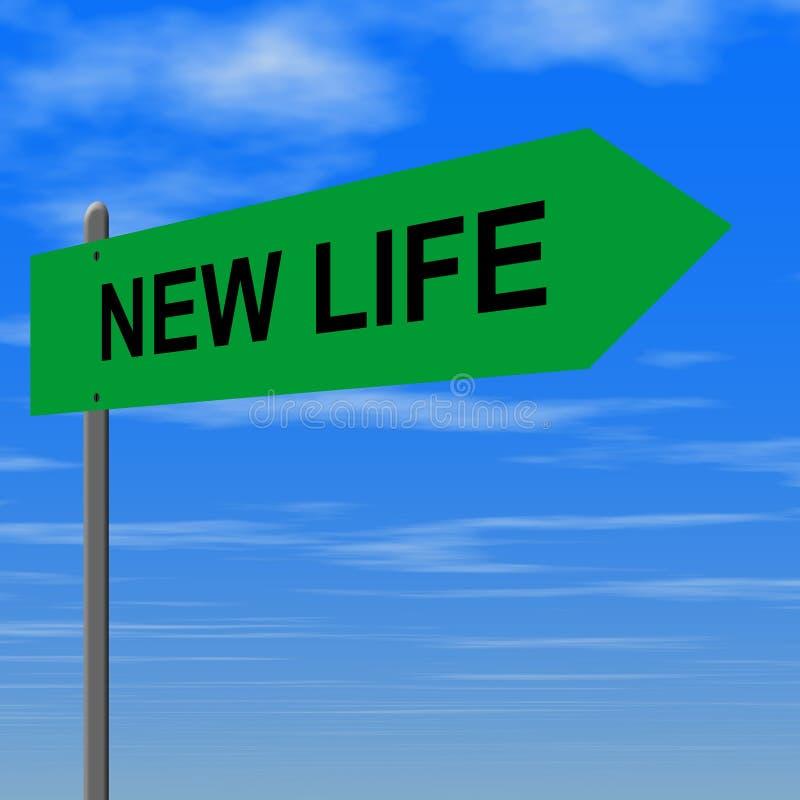 жизнь новая иллюстрация вектора