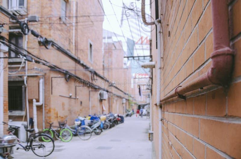 Жизнь переулка Шанхая стоковая фотография rf