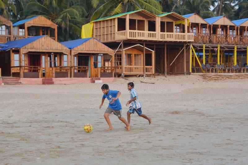 Жизнь пляжа в Goa стоковые фотографии rf