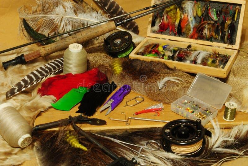 жизнь рыболовства все еще стоковая фотография rf