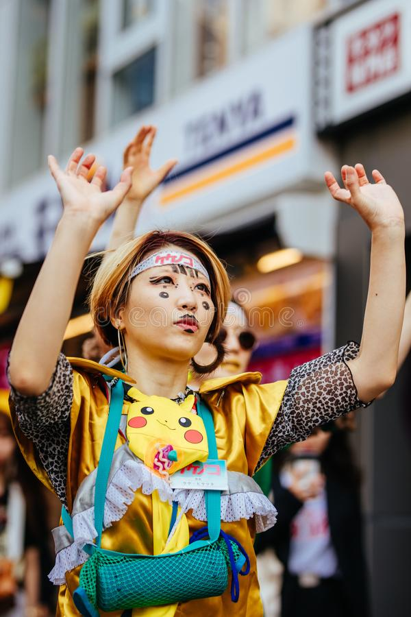 Жизнь улицы Harajuku в Токио Японии стоковое изображение