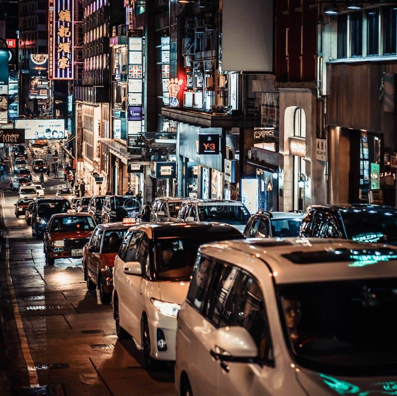 Жизнь улицы Гонконга стоковые фотографии rf