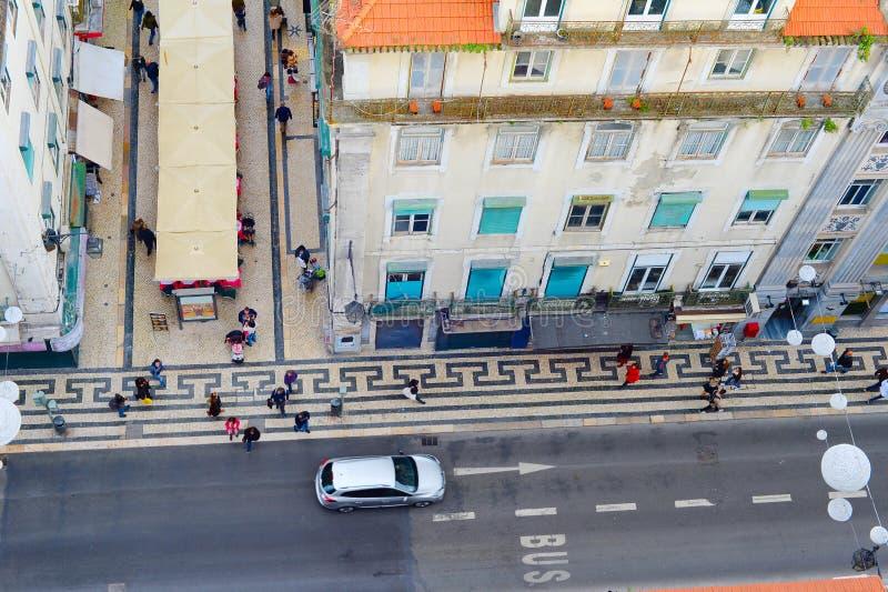 Жизнь улицы Лиссабона, Португалия стоковые изображения rf