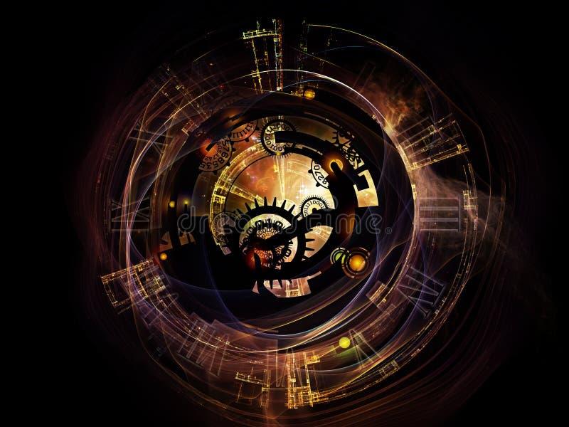 Жизнь цифров Clockwork иллюстрация вектора