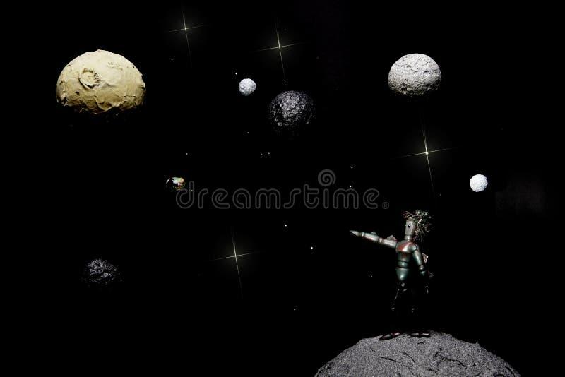 Жизнь чужеземца в космосе стоковые изображения