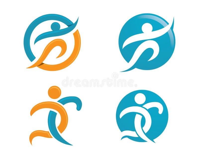 Жизнь Healhty и логотип потехи иллюстрация штока