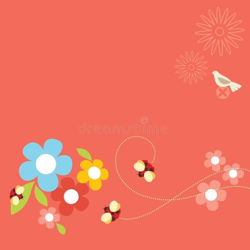 жизнь ladybug иллюстрация штока