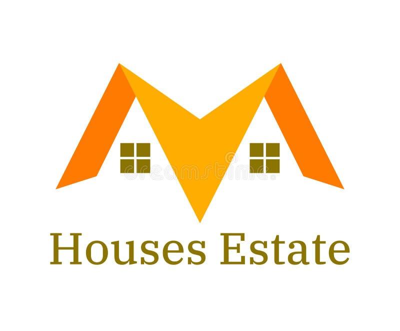 Жилая концепция логотипа дома стоковое изображение