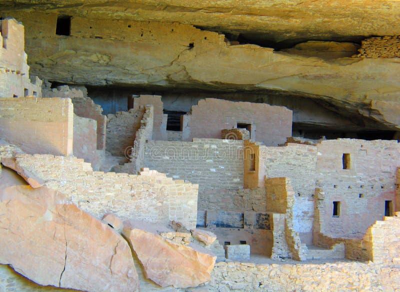 Жилища скалы ЮНЕСКО мезы Verde стоковые изображения