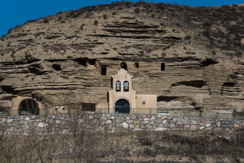 Жилище пещеры в Arguedas стоковые изображения rf