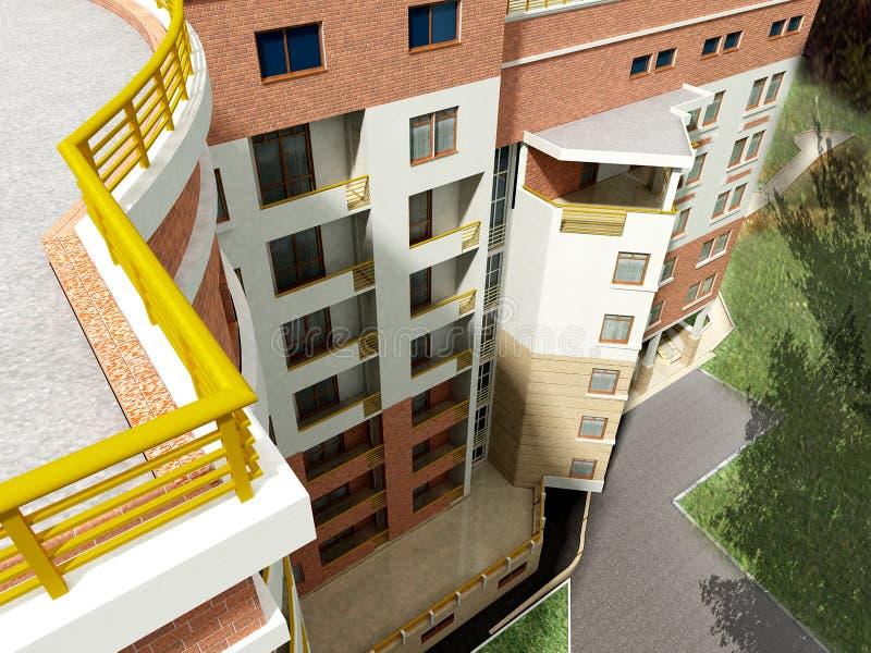 жилой дом 3d бесплатная иллюстрация