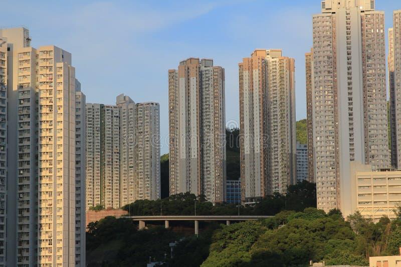 Жилой массив Гонконга общественный на схвате kwun стоковые фото