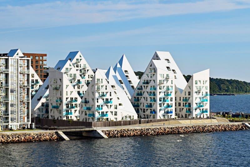 Жилой сложный айсберг ` Isbjerget ` в Орхусе, Дании стоковые фотографии rf