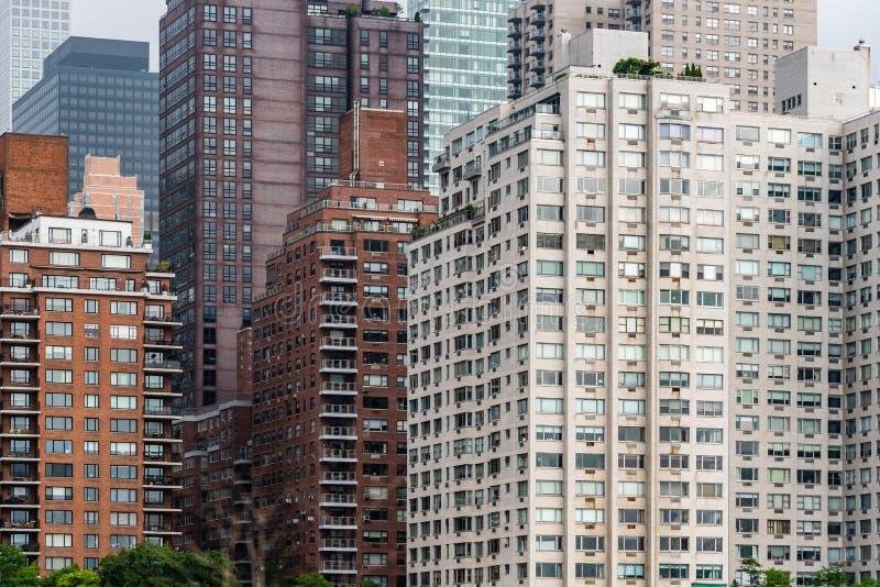 Жилые дома в верхнем Ист - Сайде Нью-Йорка стоковое изображение