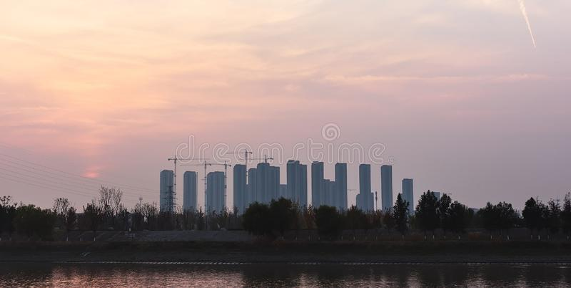 Жилые кварталы в Нанкине стоковые изображения rf