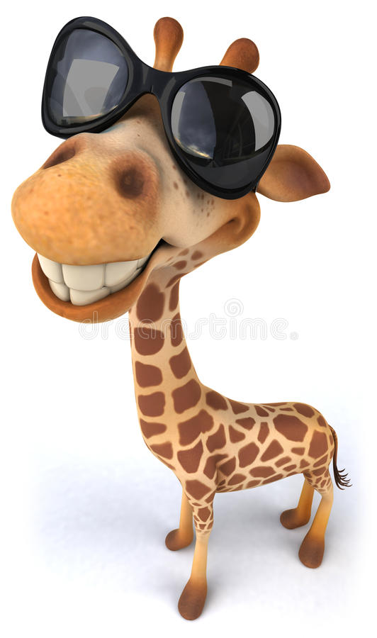 Жираф потехи иллюстрация вектора