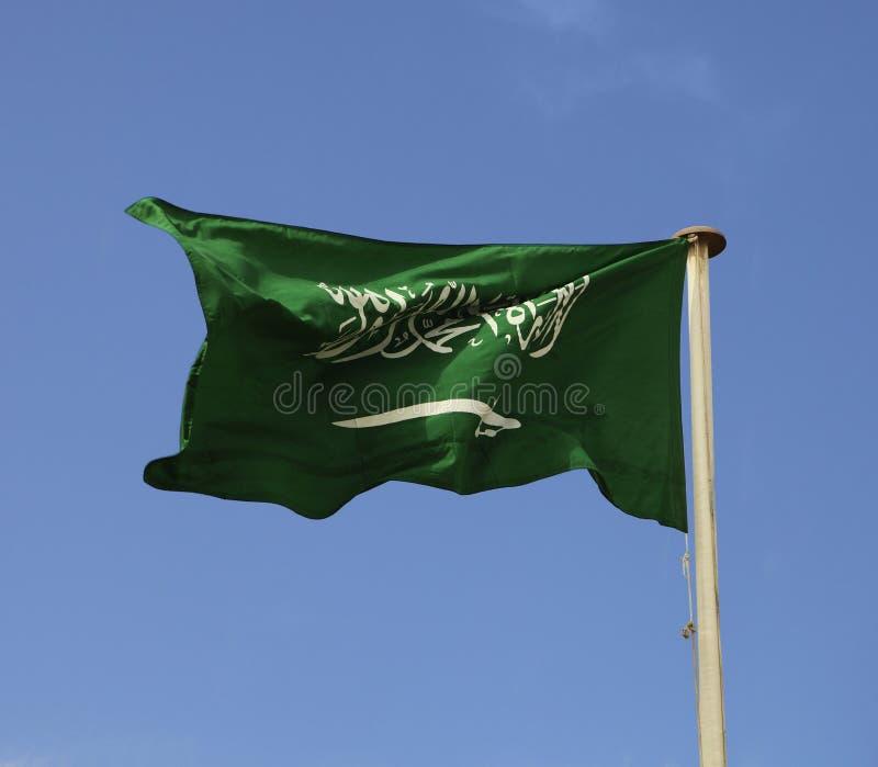 житель Саудовской Аравии флага стоковые фотографии rf