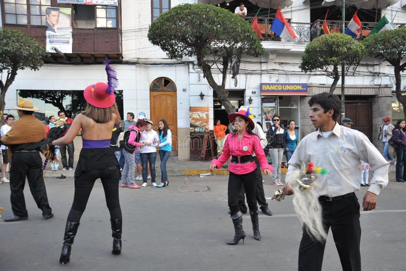 Жителя города во время масленицы в честь virgin Guadalupe стоковое изображение rf