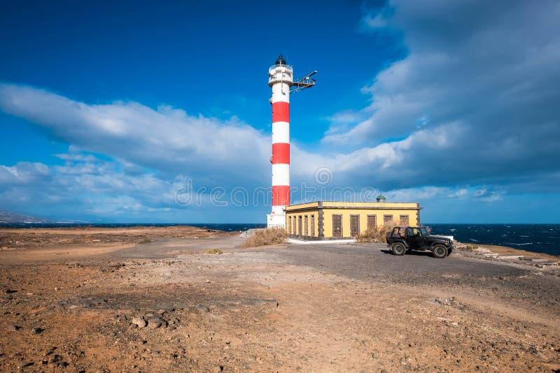 Жить в itny маяке дома около океана стоковые изображения rf