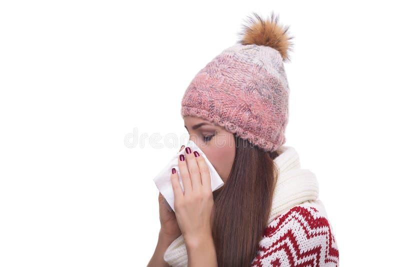 Жидкий нос девушки стоковые фото
