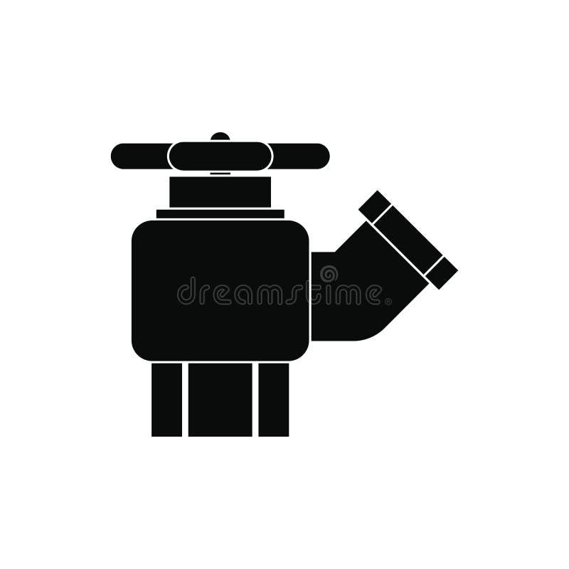 Жидкостный огнетушитель с значком клапана иллюстрация вектора
