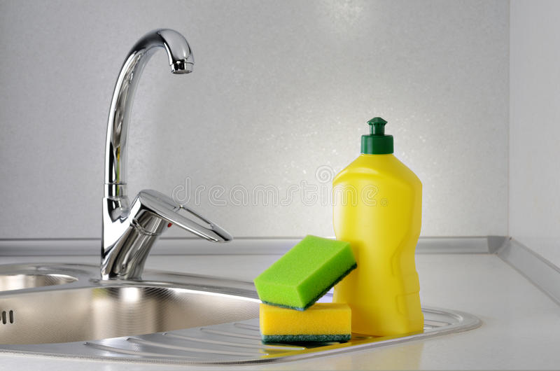 Dishwashing стоковое фото rf