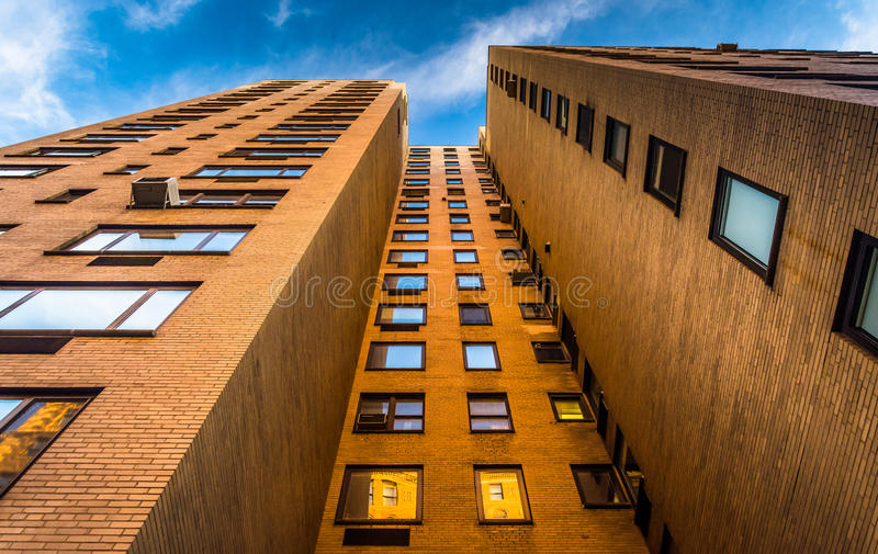 Жилой дом в верхнем Ист-Сайд, Манхаттан, Нью-Йорк стоковые изображения
