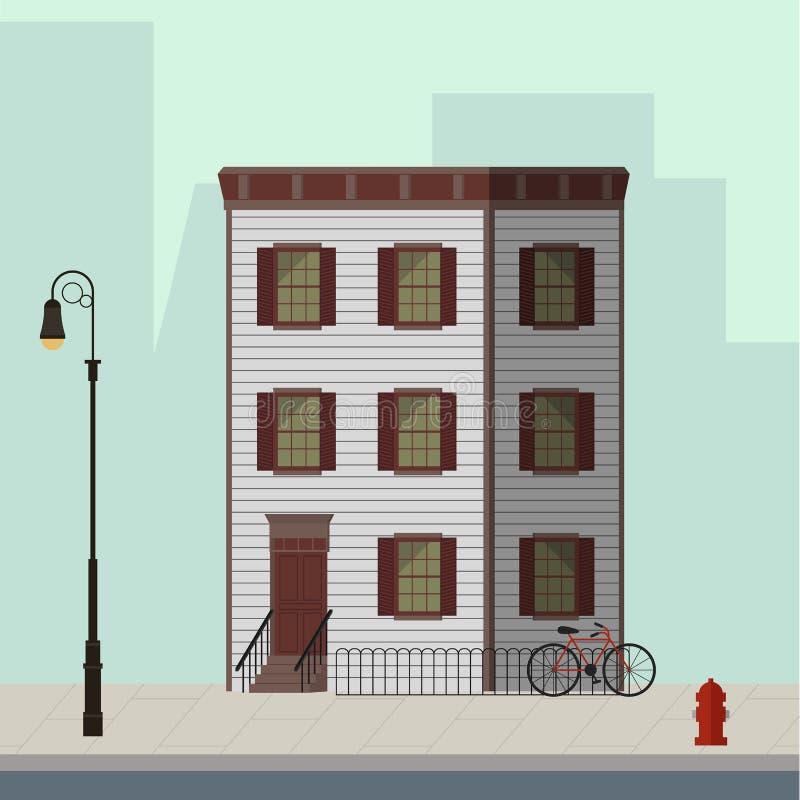 Жилой дом Манхаттана бесплатная иллюстрация