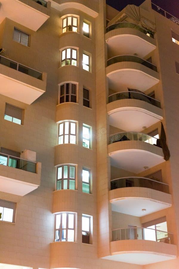 Жилой дом с балконами стоковая фотография rf