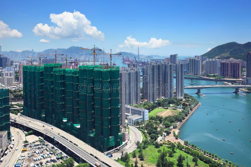Download Жилой район в Гонконге стоковое изображение. изображение насчитывающей cityscape - 33737969
