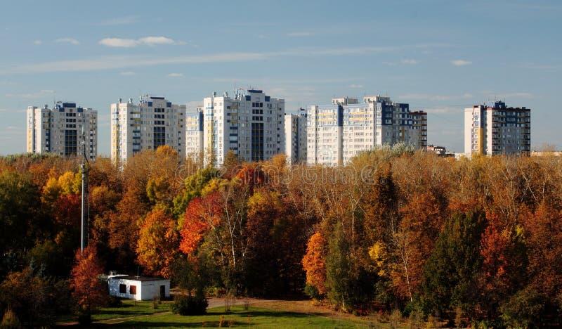 Жилой сложный район Avtozavodsky молодости Nizhny Novgorod стоковая фотография rf