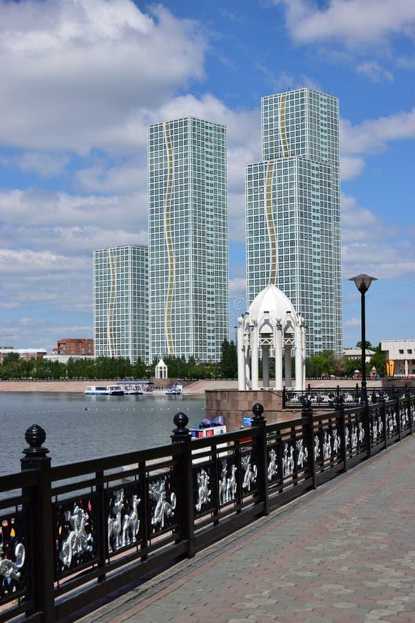 Жилые башни в Астане/Казахстане стоковое фото