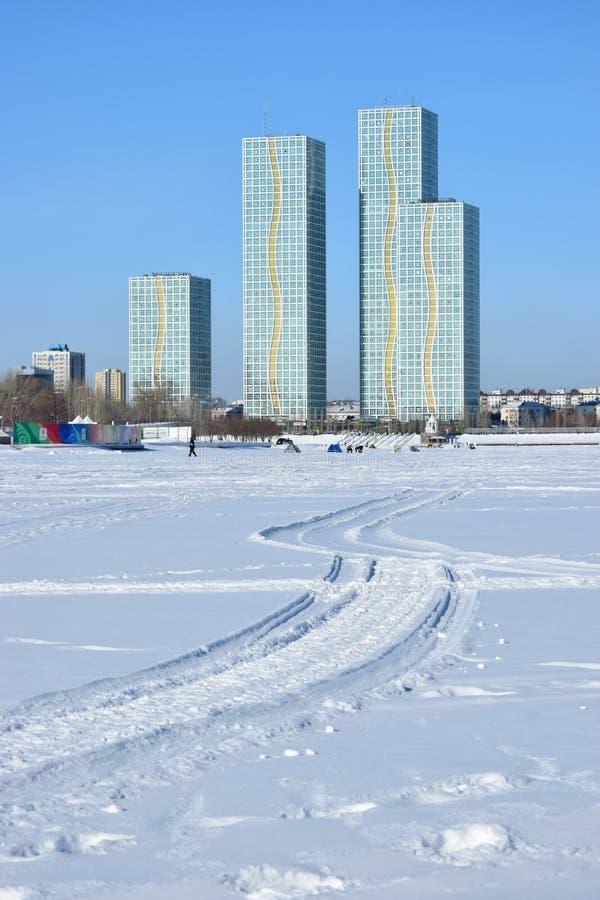 Жилые башни в Астане/Казахстане стоковое фото rf
