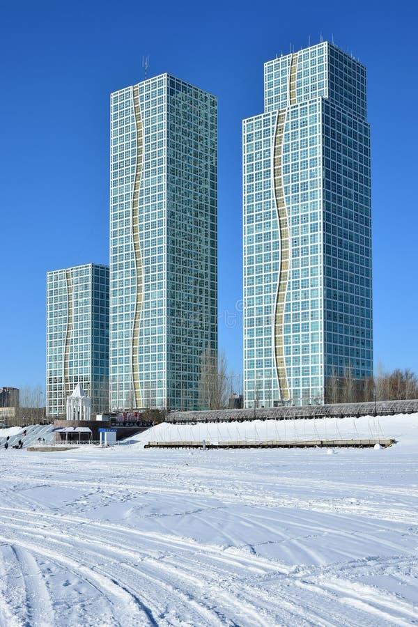 Жилые башни в Астане/Казахстане стоковые изображения