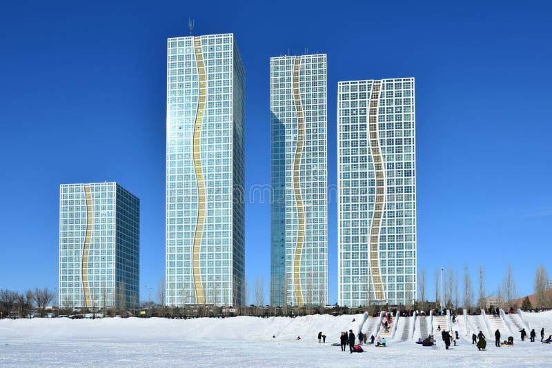 Жилые башни в Астане/Казахстане стоковая фотография rf