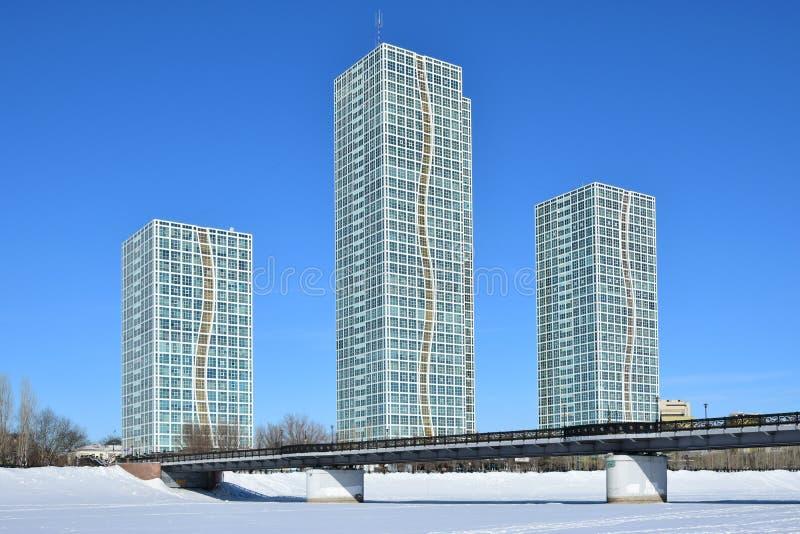 Жилые башни в Астане/Казахстане стоковое изображение