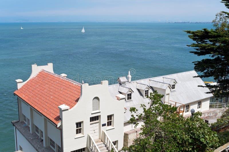 Жилые квартиры на Alcatraz стоковое изображение
