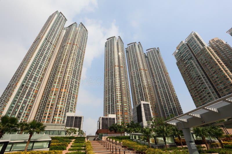 Жилые дома в Гонконге стоковые изображения