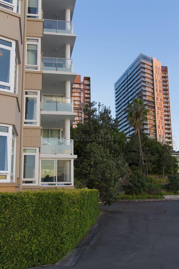 Жилые дома на Pyrmont в Сиднее, Австралии Квартира b стоковая фотография