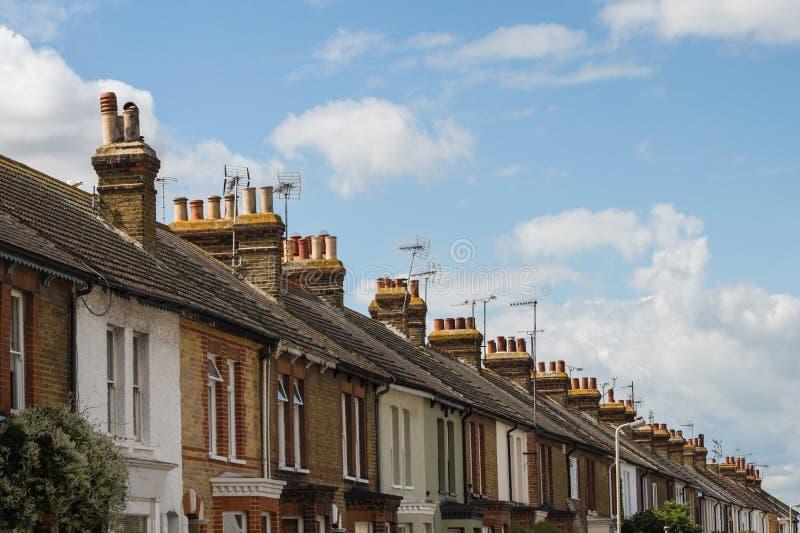 Жилые дома террасы в Whitstable, Кент, стоковое фото rf