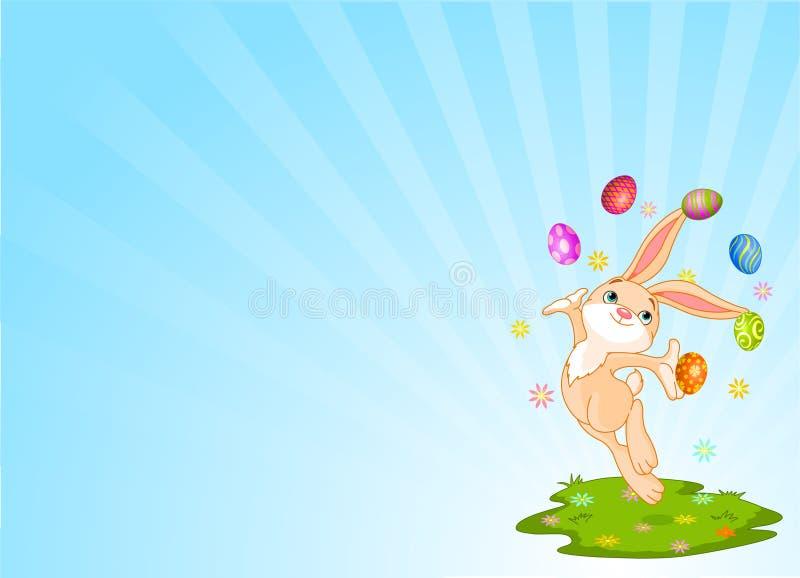 жонглировать зайчика иллюстрация вектора