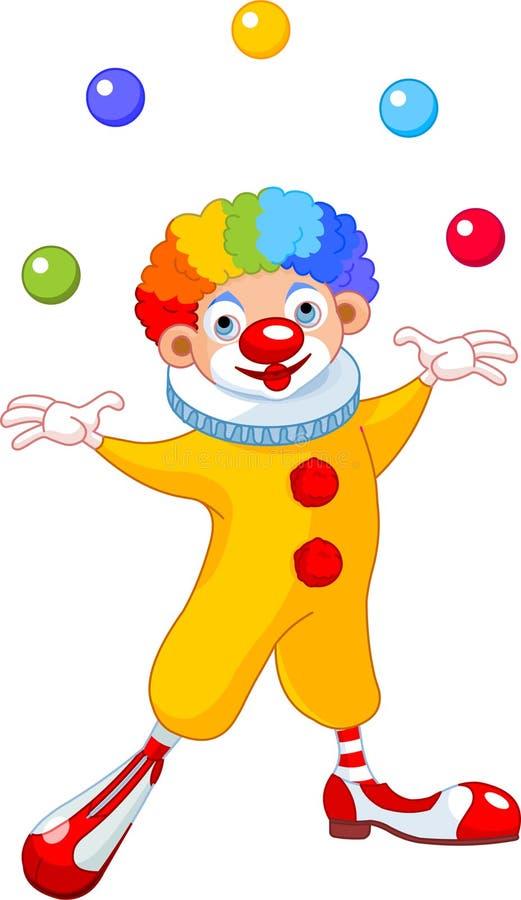 жонглировать клоуна иллюстрация вектора