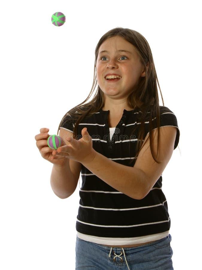 жонглировать предназначенный для подростков стоковое изображение