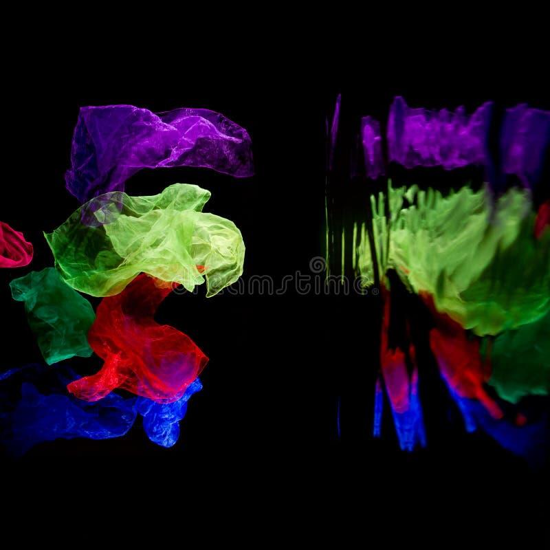 Жонглируя летать тканей стоковые изображения