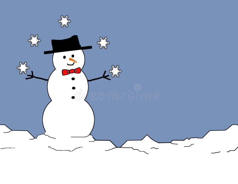 жонглируя снеговик бесплатная иллюстрация
