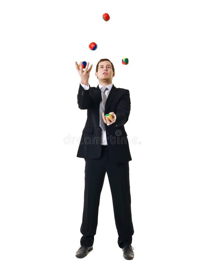 жонглируя человек стоковое изображение rf