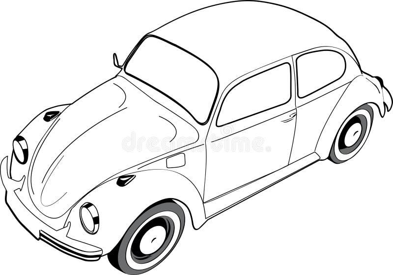 Жук или черепашка Volkswagon иллюстрация штока