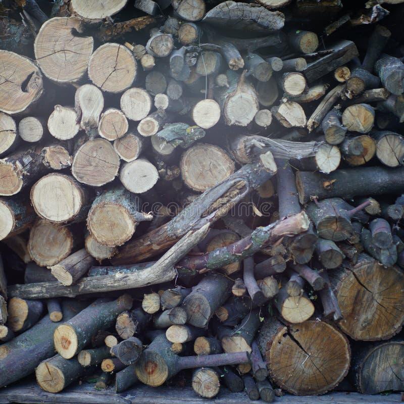 журналы складывают деревянное стоковое фото rf