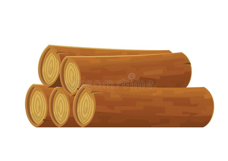 Журнал мультфильма деревянный изолированный на белой предпосылке иллюстрация штока