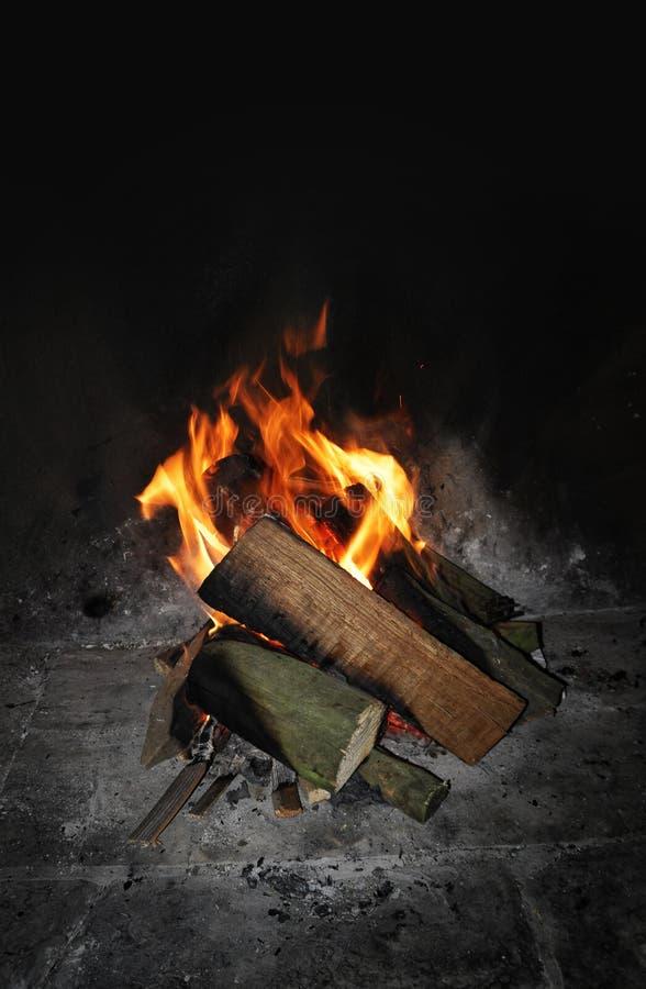 журнал пожара стоковые изображения rf